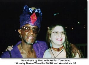 Bernie Worrell ~The Wizard of Woo~wearing Art for his Head at SXSW music conference
