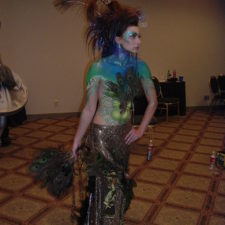 Bodyart Painted Peacock at StyleCup