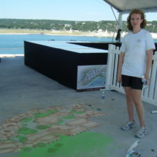 Chalk Artist  Rachel's work at Lake Travis Event