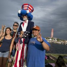 Uncle Sam Stilt Walker