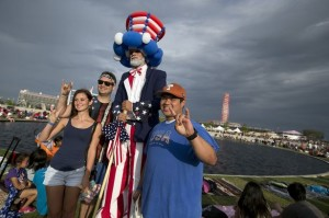 Fourth of July Fun with our Uncle Sam Stilt Walker @ COTA